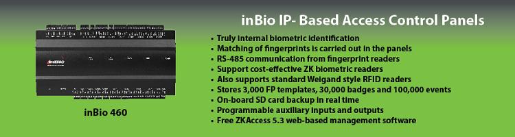 124NIBinBio IP- Based Access Control Panels